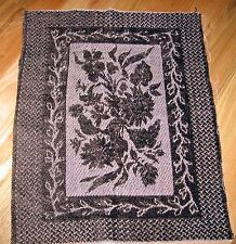 """1 Great """"Flowers Chenille Tapestry"""" Pillow Top Fabric Panel"""