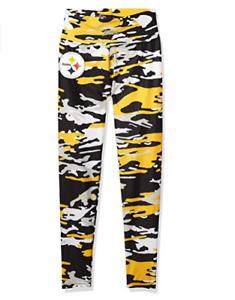 Zubaz NFL Women's Pittsburgh Steelers Camo Print Legging Bottoms