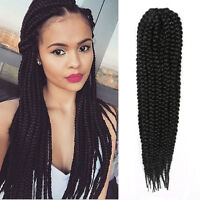 "18"" Black Box Braids Hair Extension Synthetic African Braids Triangle Box Braids"