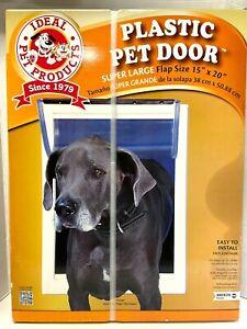 "Ideal Pet Original Pet Door with Telescoping Frame Super Large 15"" x 20"" Flap"