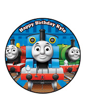 THOMAS THE TANK Cake Image  Personalised Birthday Decoration Party Topper
