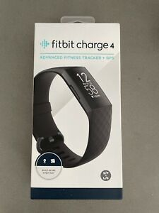 Fitbit Charge 4 Advanced Fitness Tracker + GPS  - Black Classic Band - SEALED