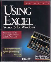 Using Excel Version 5 for Windows Special Edition (1993, QUE) Free USA Shipping!