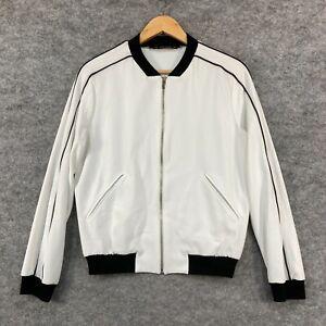 Zara Womens Jacket Size XS White Long Sleeve Full Zip Stretch Pockets 272.04