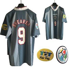 England Away Shirt Euro 1996 -  Grey XXL extra large 96 SHEARER 9 Euro 20/21