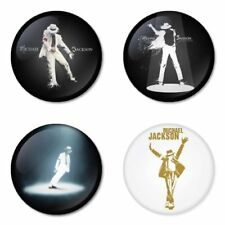 Michael Jackson, pop - 4 chapas, pin, badge, button