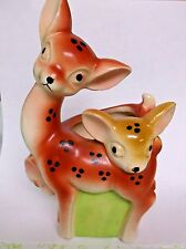 Vintage Deer with Fawns Planter Made in Japan