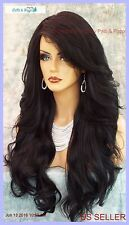 """28"""" WAVY LONG THICK HEAT FRIENDLY WIG COLOR #1 BLACK GORGEOUS SEXY USA 338"""