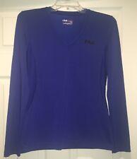 Fila Sport Blue Athletic Top, Size S