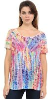 Hibiscus on Colorful Tie Dye Soft n light One By One Print Sublimation SRP-R340