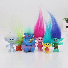6pc/set 3-7cm Trolls Movie Figure Toys Set Collection Playset Kids Birthday Gift