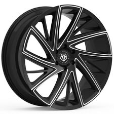 "TIS 546BM 22x10.5 5x120 +45mm Black/Milled Wheel Rim 22"" Inch"
