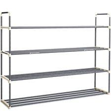 4-Tier Shoe Rack Organizer Storage Bench - Holds 24 Pairs - Organize Your Closet