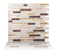 Tic Tac Tiles® - Premium 3D Peel & Stick Wall Tile in Como Metal (10 sheets)