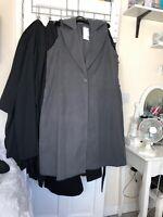 Grey Long Sleevless Coat Xl Brand New