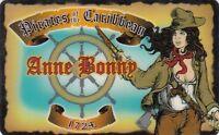 Anne Bonny PIRATES of the CARIBBEAN 1724 plastic id card Drivers License Bonne