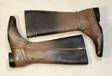 1500$ PRADA knee high smoke brown ombre riding boots 38.5 = 39-39.5 8-8.5 6-6.5