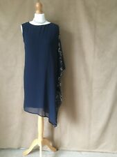 New Lipsy Lined Navy Sequin Party Occasion Dress. Size 12