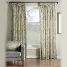 """Montgomery Pewter Velddrif Lined Pencil Pleat Curtains 46"""" x 54"""" RRP £92 SX 467"""