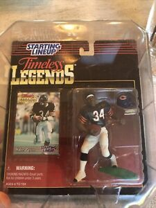 Starting Lineup 1995 WALTER PAYTON (White/Blk Tip Shoes) TIMELESS LEGENDS + CASE