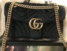 Gucci GG Marmont Black Velvet Shoulder Bag