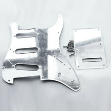 Chrome Mirror Electric Guitar Pickguard Back Plate For Fender Strat Stratocaster