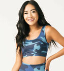 ZYIA Navy Camo Back Mesh Light n Tight BRA size 2 #708 Discontinued