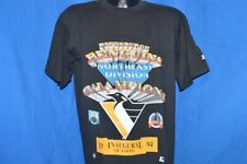 vtg 90s PITTSBURGH PENGUINS STARTER 1994 NORTH DIVISION CHAMPS t-shirt HOCKEY M