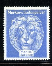 Germany Poster Stamp Lowenkopf Soap Powder Lion