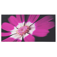 """20""""x 40 Large Hanging Wall Canvas Pink Black Daisy Flower Floral Art Print Panel"""