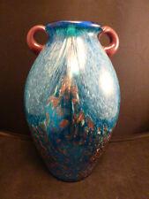 Beautiful Uncased Dale Tiffany Aventurine & Aqua Blue Amphora Shaped Vase *Mint*