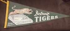 Rare Style! Vintage Detroit Tigers Baseball Pennant - Briggs Stadium