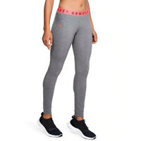 Under Armour UA Favourite Womens Grey Long Fitted Sports Gym Running Leggings L