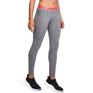 Under Armour UA Favourite Womens Grey Long Fitted Sports Gym Running Leggings