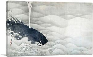 ARTCANVAS Elephant and Whale Screens Canvas Art Print by Jakuchu Ito