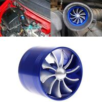Single Supercharger Turbine Turbo Charger Air Filter Intake Fan Fuel Gas Saver