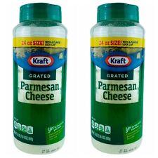 2-PACK KRAFT 100% GRATED PARMESAN CHEESE 24 oz/680 g EACH FRESH USA SELLER