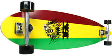 New Krown Complete Pintail Skateboard Longboard Rasta