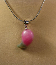 Malay red jade chili shape pendant (without chain)