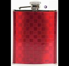 Coyote RED CHECKERBOARD Flask Stainless Steel 6oz