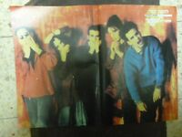 """THE CURE HEBREW POP MAGAZINE POSTER 30*42 CM 1990"""" ISRAEL RARE"""