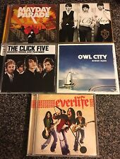 Pop CDs lot of 5, Jonas Brothers MayDay Parade Owl City Click Five Everlife
