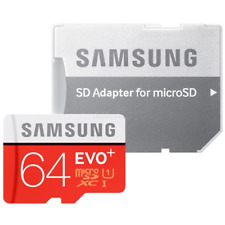 SAMSUNG 64GB MICRO SD CARD SDHC EVO + 80MB/s UHS-I CLASS 10 TF Memory Card HD 4K