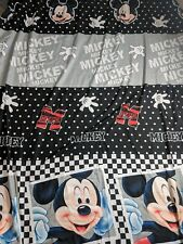Vintage Disney Mickey Mouse MM28 Face 93 X 84 Sheet Flat Fitted Pillowcases