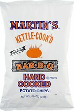 4 BAGS! Martin's Kettle Cook'd Bar-B-Q BBQ Potato Chips PA Snack FREE SHIP!