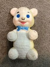 """Vintage SANITOY Rubber Squeak Toy Bear 7 1/4"""" 1960's"""