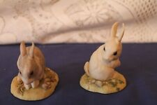 More details for 2 teviotdale rabbit figurines hand made in hawick scotland (edlmann)