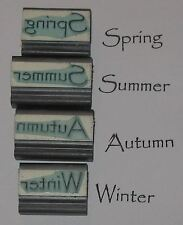Spring Summer Autumn Winter word Rubber Stamps set of 4