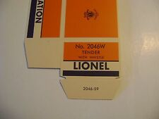 Lionel 2046W Tender Licensed Reproduction Box w/Corrugated Insert