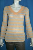 SPORTMAX CODE MAX MARA  Taille 36  Superbe pull pullover rayures gris melon
